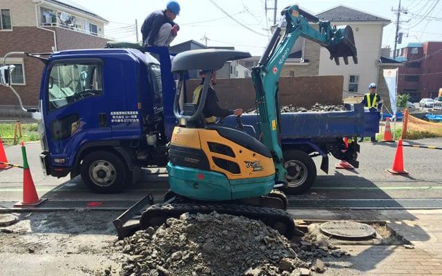敏建の解体工事